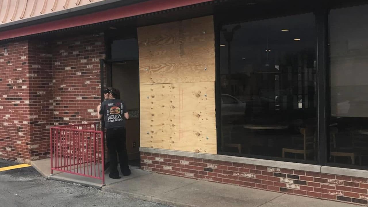 We offer same-day service throughout Pittsburgh. If your business has a broken window or glass door, call us for board-up service.