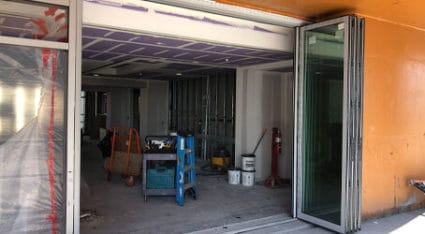 If your business needs the convenience and access of bifold folding doors, just give us a call to get a free estimate.