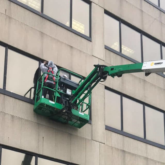 We install commercial glass glazing that protects windows from UV damage and impacts.