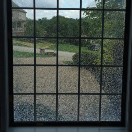 Shattered or cracked glass? It's a sign you need to call us for fast glass replacement here in Pittsburgh.