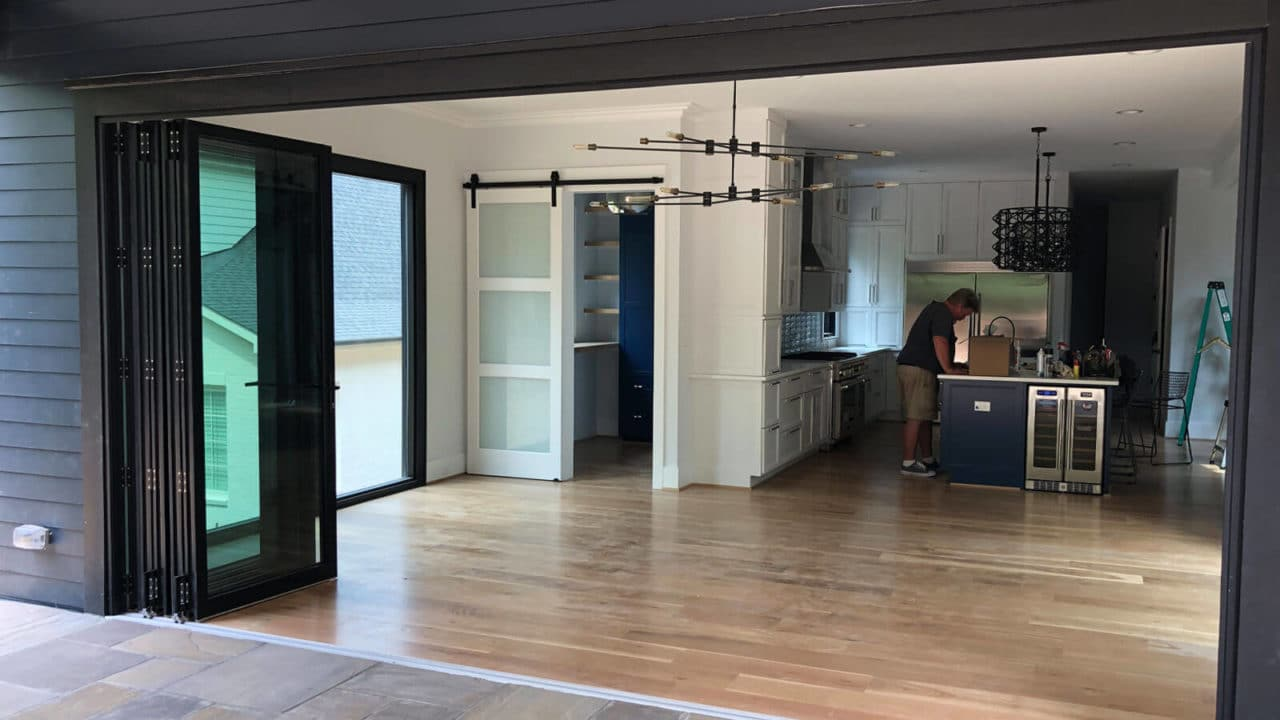With new bifold doors, your home and your deck will be closer together than ever before!