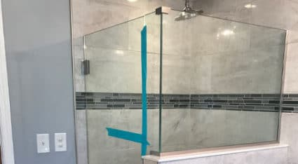 We replace and install new shower glass doors here in Pittsburgh—including this beautiful frameless glass shower enclosure!